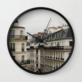Traditional Paris Rooftops, Paris Architecture, France Travel, Paris Streets Photo Wall Clock