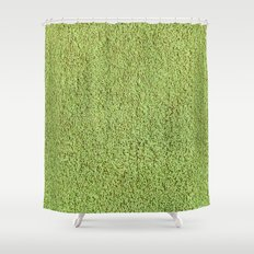 Phlegm Green Shag Pile Carpet Shower Curtain