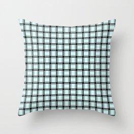 Small Light Cyan Weave Throw Pillow