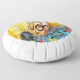 Iris Apfel.  Floor Pillow