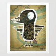 Hungry Duck Art Print
