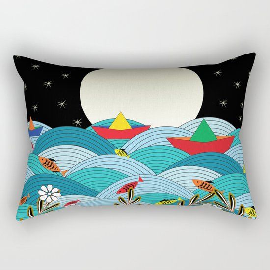 beautiful night Rectangular Pillow