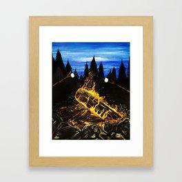 Camp Fire Framed Art Print