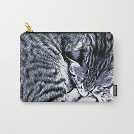 Cute Tabby Kitten Nap Carry-All Pouch
