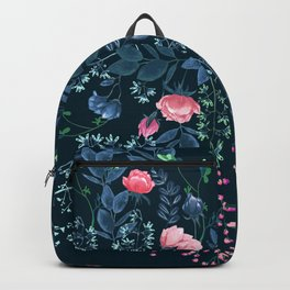 Floral - Blue & Pink Backpack