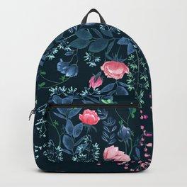 Floral - Blue & Pink Backpack