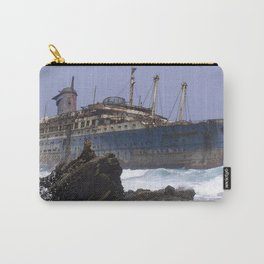 Blue boat colors fashion Jacob's Paris Carry-All Pouch