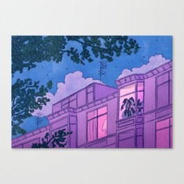 Looking into windows at night Canvas Print
