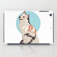 shiba inu iPad Cases featuring Shiba Inu Kitsune by AlliePets