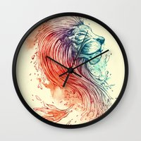 lion Wall Clocks featuring Sea Lion by Steven Toang
