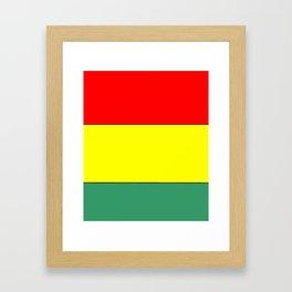 flag of bolivia 3 -bolivian,boliviano,bolivian,Sucre, La Paz. Framed Art Print