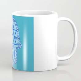 Hamsa for blessings, protection and strength - Turquoise Coffee Mug
