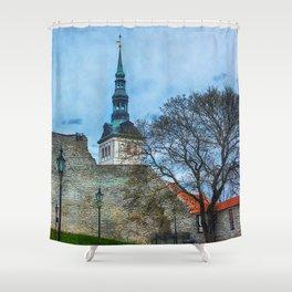 Tallinn art 12 #tallinn #city Shower Curtain
