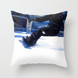 Snowboarder Skidding Winter Sports Gift Throw Pillow