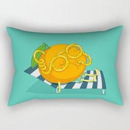 Orange Juice Rectangular Pillow