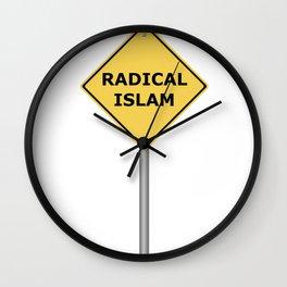 Radical Islam Warning Sign Wall Clock