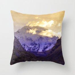SUNRISE AT APU SALKANTAY Throw Pillow