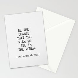 Mahatma Gandhi positive quote Stationery Cards