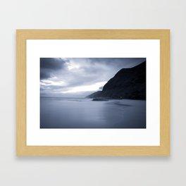Hawaii Seascapes #2 -Ka'ena At Dusk (Black and Silver Film) Framed Art Print