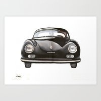 porsche Art Prints featuring PORSCHE  by Alfonso Aranda