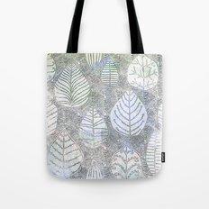 Watercolor Leaf Design Tote Bag
