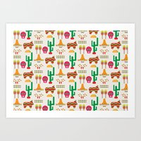 mexico Art Prints featuring Mexico by Ana Types Type