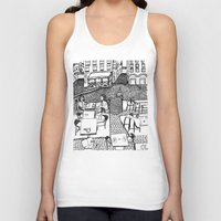 stockholm Tank Tops featuring Stockholm by intermittentdreamscapes