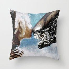 Alien Kiss Throw Pillow