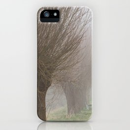 Misty willow lane iPhone Case