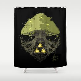 Deku Tree Full Colour Shower Curtain