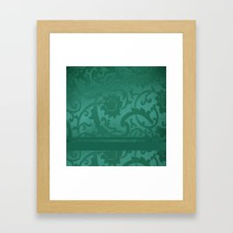 FLORAL SHADOW TAPESTRY | turquoise Framed Art Print