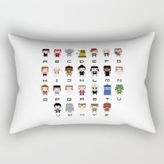 Doctor Who Alphabet Rectangular Pillow