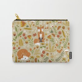 Foxes with Fall Foliage Carry-All Pouch