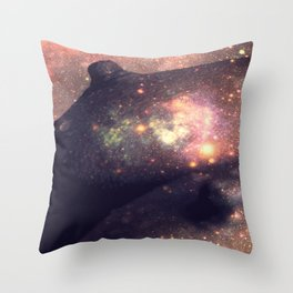 Galaxy Breasts Mauve Teal Throw Pillow
