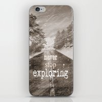 "never stop exploring iPhone & iPod Skins featuring ""Never stop exploring ... forests"" by Guido Montañés"