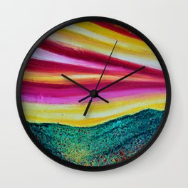 SPRING IS COMING - Abstract Sky - Landscape Oil Painting Wall Clock