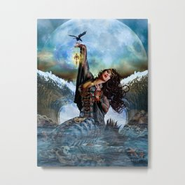 Magical Sea Witch Metal Print
