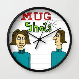 Mug Shot Wall Clock