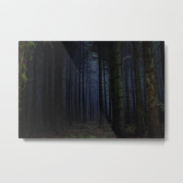 The Dark & Eerie Woods (Color) Metal Print