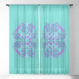 "CA Fantasy ""For Tiffany color"" series #3 Sheer Curtain"