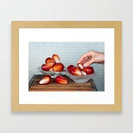 Pomegranate Seed Salad Framed Art Print