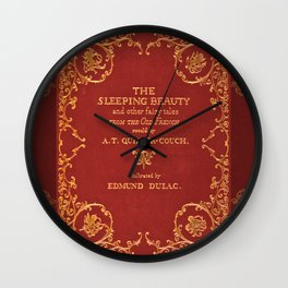 Vintage Sleeping Beauty Book Cover, Fairy Tale Wall Clock