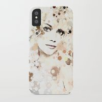 emma stone iPhone & iPod Cases featuring Emma Stone by Rene Alberto