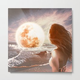 For You, I'd Pull The Moon From the Sky Metal Print