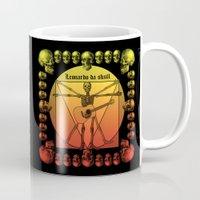 leonardo Mugs featuring Leonardo Guitar by kuuma