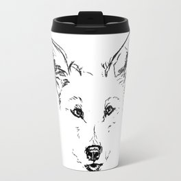 Grey Wolf Travel Mug