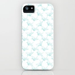 Light origami pattern iPhone Case