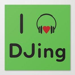 I heart DJing Canvas Print