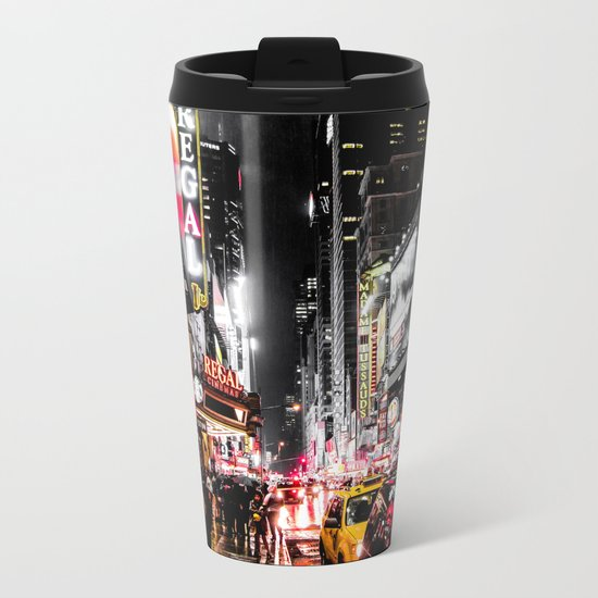 New York City Night II Metal Travel Mug