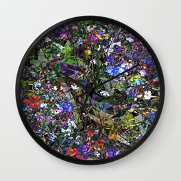 Early Autumn Wildflowers Wall Clock